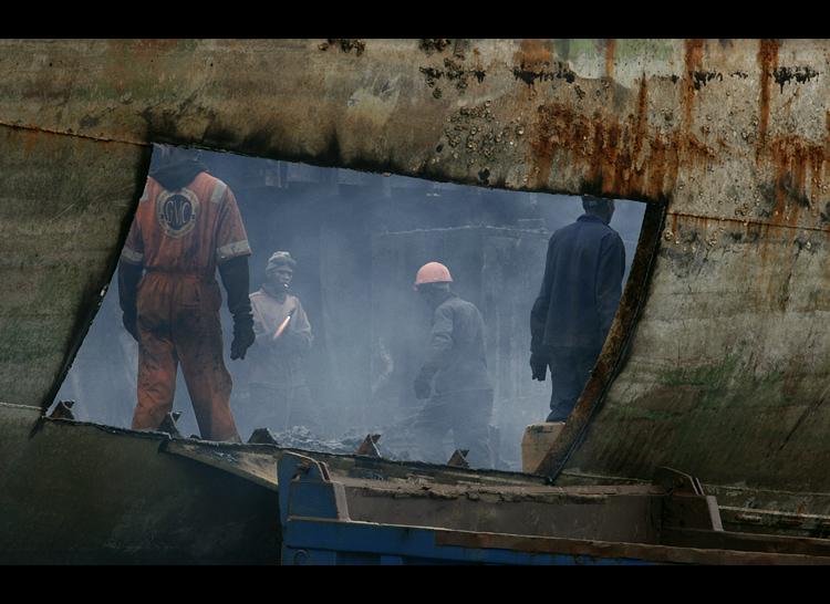 последните мигове на един кораб...