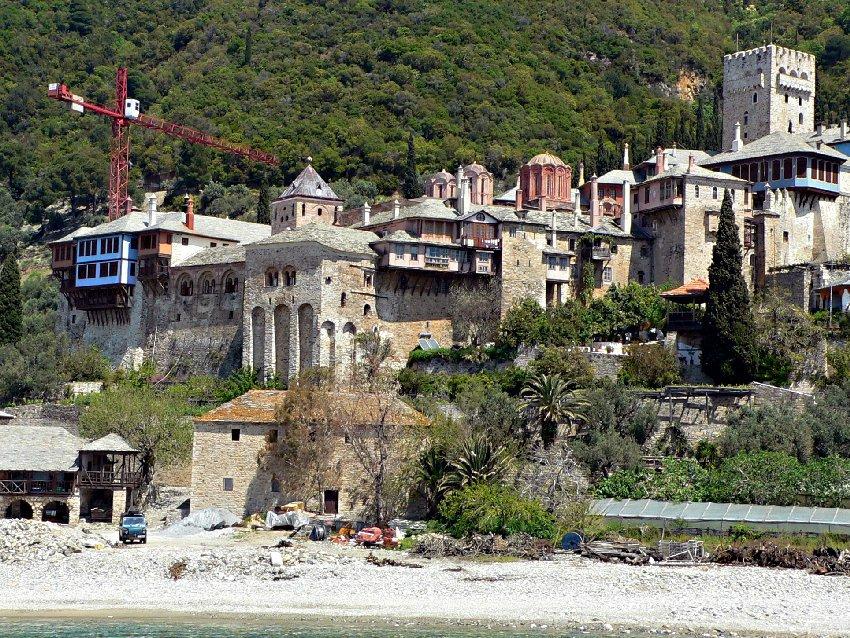 """Гръцки манастир """"Дохияр"""" - Света Гора (Атон)"""
