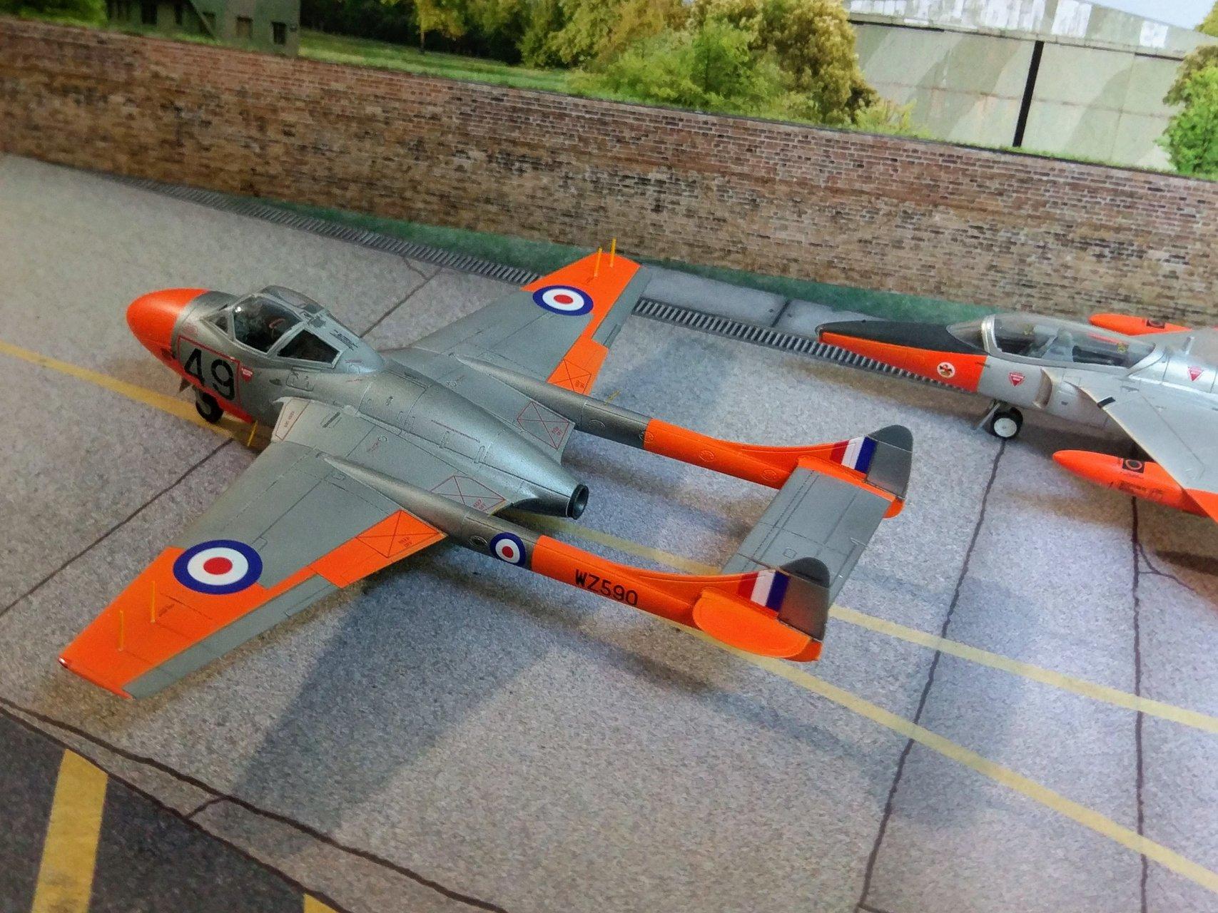 De Havilland Vampire t 11, 1/72, Airfix - Ready for Inspection