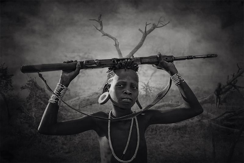 Young Mursi warrior от Светлин Йосифов - picsvet