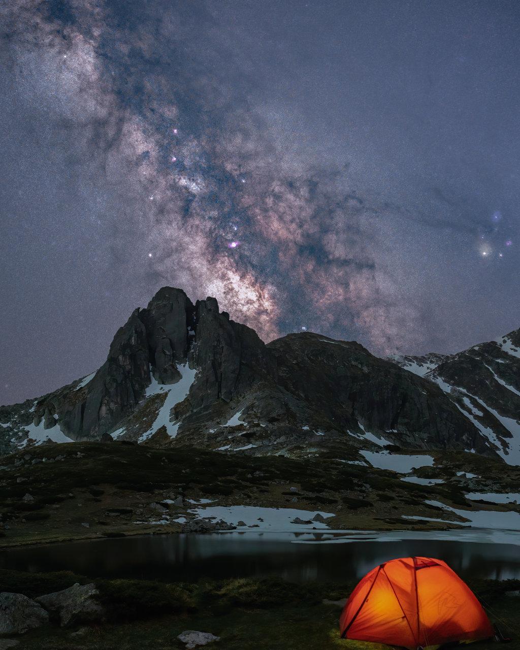 Рила с цялата си прелест през ноща... | Author edobg | PHOTO FORUM