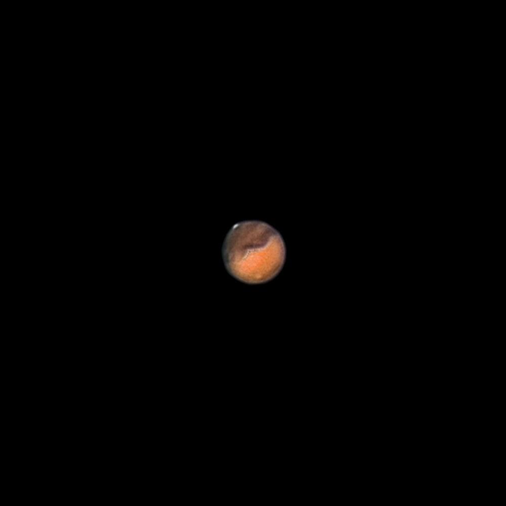 Марс с вулкана Олимп Монс и полярната шапка | Author zaiko | PHOTO FORUM