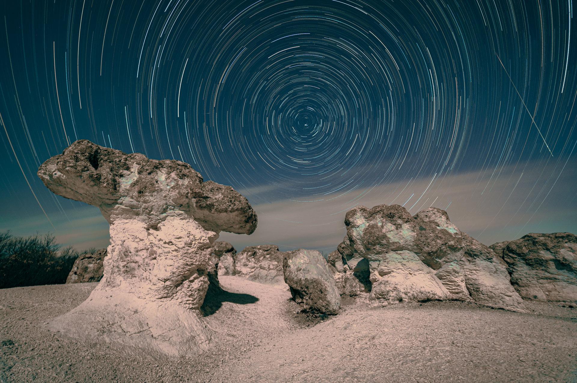 Star trails   Author Bozhidar Uzunov - bobby5   PHOTO FORUM