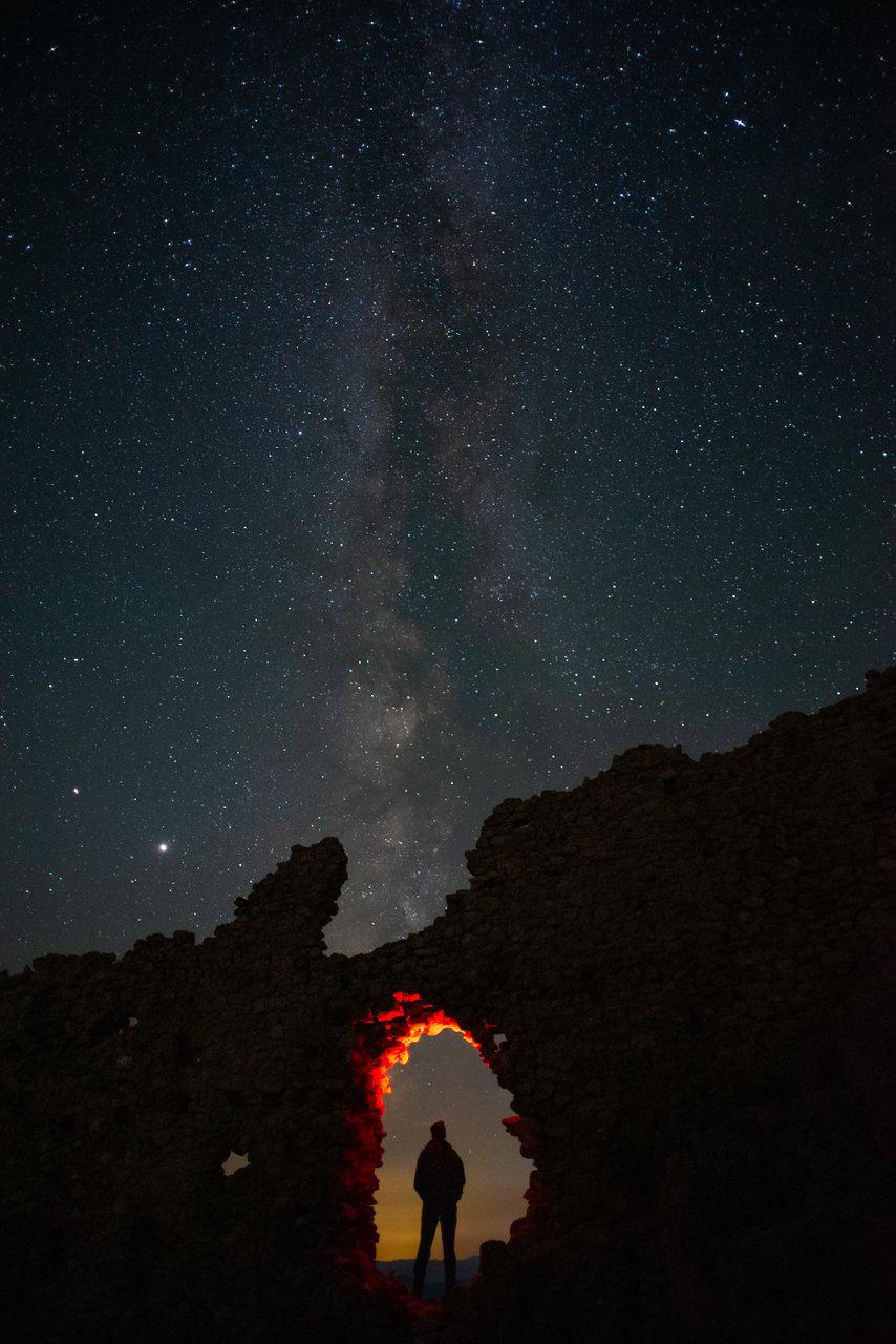 Млечния път над крепост Устра | Author Tonev88 | PHOTO FORUM