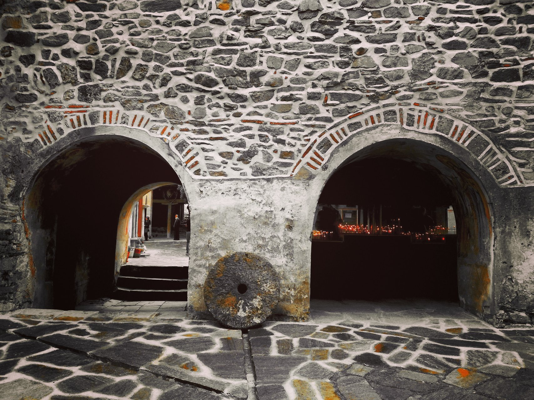 Death and light. The Christian church doors. от Mira Vassileva - MiraIart