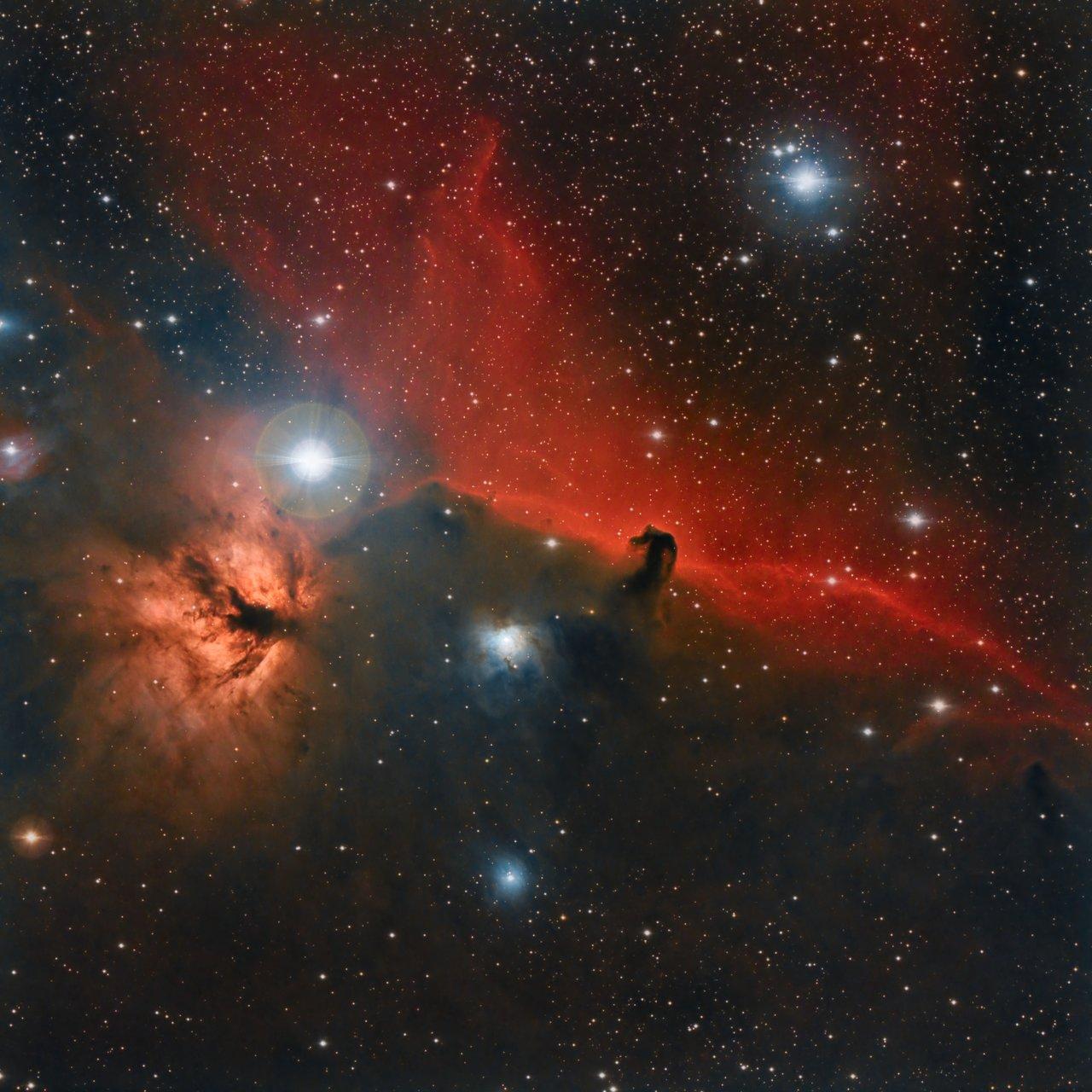 "IC434 - Мъглявината ""Конска глава"" и NGC 2024 - Мъглявината ""Пламък"" | Author Ivan Raichev - sektor | PHOTO FORUM"