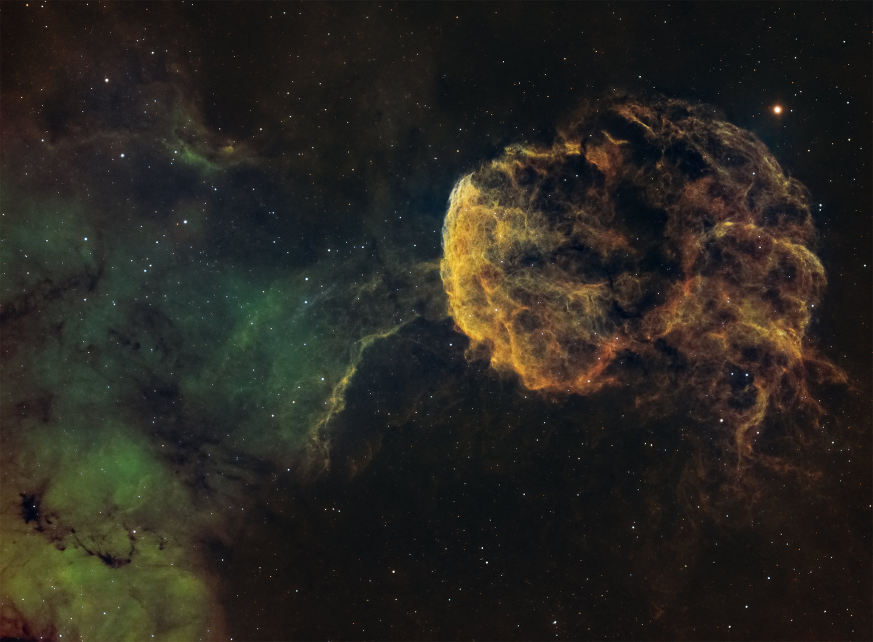 Jellyfish Nebula IC443 | Author Viktor Penkov - Pelinio | PHOTO FORUM