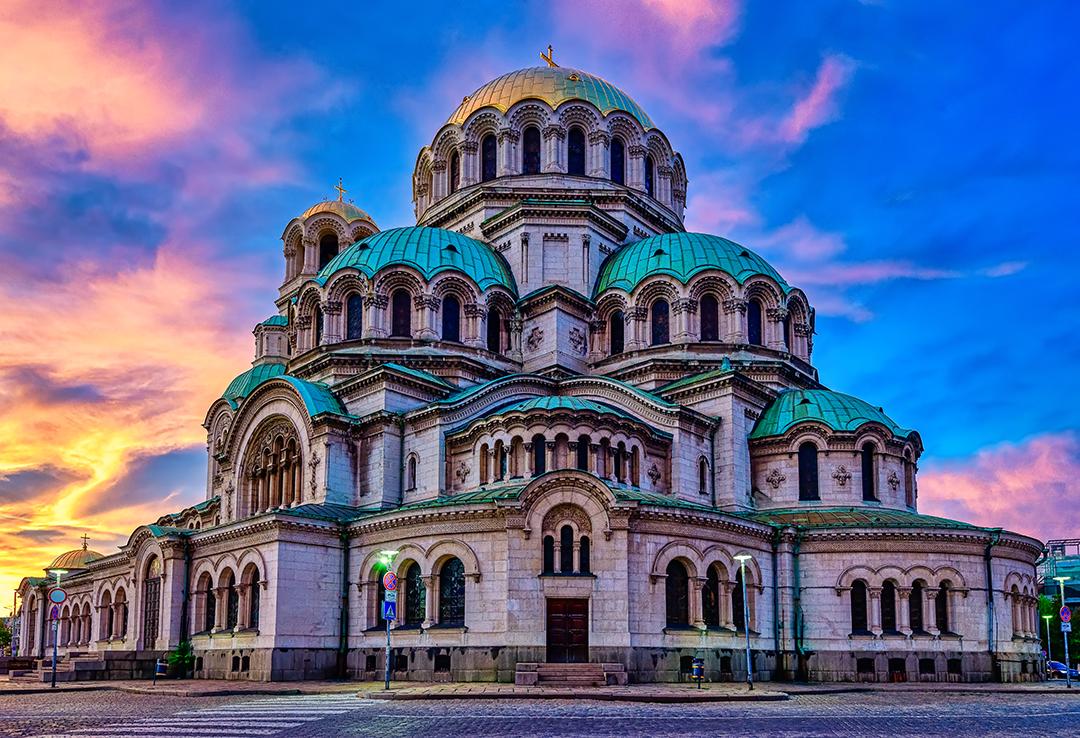 Залез над Катедрала Свети Александър Невски   Author Vasil Nanev - vnanev   PHOTO FORUM