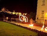 огнени рисунки на входа на StareMesto, Prague ; comments:6