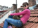... с Матис на покрива! ; comments:14