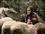 Отиде си мойто дядо. Остави ма саминка. Кой да пасе овцете, кой да сей нивата? Кое по-напред да сторя ба? А и младите не довадят. Защо барем не си отидах и аз със него? Ей тъй, да не съм саминка. ; comments:142