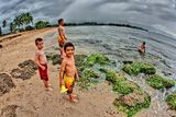 Kids at Haleiwa beach ; comments:24