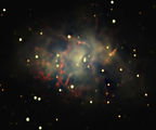 Crab Nebula (M1, NGC 1952) - constellation Taurus ; comments:19