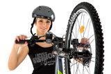 Момиче с планински велосипед ; comments:12