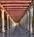 Колонадата на Stoa of Attalos - древна Атина (Stoa е аналог на днешните бизнес центрове - офиси, магазини и т.н). ; comments:14