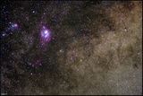 M20 Trifida and M8 Lagoon Nebula ; comments:5