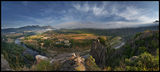 Панорамен изглед към гр. Маджарово и меандрите на река Арда ; comments:38