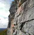 Mike climbing the Yellow Ridge (Gunks, NY) ; comments:9