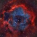 Дифузна мъглявина NGC 2237 (The Rosette Nebula) в съзвездието Еднорог заснета в 6 цветни филтъра - общо експ. време 3.5 часа ; comments:139