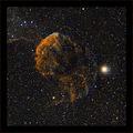 Мъглявинка в златно - IC 443 (Jellyfish Nebula), заснетa в 7 филтъра - общо експ. време 4.5 часа ; comments:56