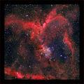 Космическо сърчице - мъглявината IC 1805 заснетa в 6 филтъра - общо експ. време 2 ч.  и 45 мин. ; comments:52