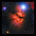Мъглявината ПЛАМЪК (Flame Nebula) или NGC 2024  в Орион, заснета в LRGB филтри, общо експозиционно време: 3 часа ; comments:36