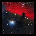Мъглявините B33 (Конска глава; Horsehead Nebula), IC434 и NGC 2023 заснети в LRGB филтри,   общо експозиционно време: 3 часа ; comments:46