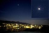 Венера пред Плеядите - 3 април 2012 вечерта ; Comments:10