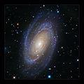 Галактиката M81 (Bode's Galaxy) в съзвездието Голяма Мечка, заснета в 4 филтъра, общо   експозиционно време 3ч:20мин ; comments:65