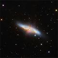 Галактиката M82 (Cigar Galaxy, NGC 3034) в съзвездието Голяма Мечка, заснета в 4 филтъра, общо експозиционно   време 2 часа ; comments:59