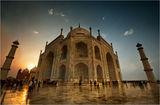 Sunset-Taj Mahal ; comments:63