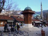 Сараево - Фонтанът и джамията на Башчаршия ; comments:5