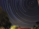Star trails с две падащи звезди ; comments:10
