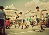 Екстремно. / в цвят/ Републиканско Първенство по скейтборд Асеновград 2012. Опит за подобряване на националния рекорд по скочено оllie. В кадър е Ангел Димитров-MAXA, Шампиона при големите! : ) ; comments:31