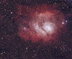 """М8 - Мъглявината """"Лагуна""""  SW254/1200, Canon 1000d, 30 кадъра по 2 минути, ISO1600 от терасата:) ; comments:11"""