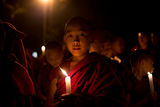 Light procession for Lama Tsong Khapa day ; comments:29