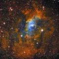 NGC 7635 - ярка емисионна мъглявина (Bubble Nebula, LBN 548, Sh 2-162) в съзвездието Касиопея, заснета в 3 филтъра, общо експозиционно време 3:30 часа ; comments:109