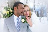 Зимна сватбена приказка в черно и бяло ; No comments