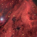 IC 5067, IC 5070 (LBN 353) - Емисионна мъглявина и Хербиг-Харо обекти в съзвездието Лебед, заснета в 5 филтъра, общо експозиционно време 3:40 часа ; comments:64
