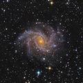 NGC 6946 (Fireworks Galaxy) - Спирална галактика в съзвездието Цефей, заснета в LRGB, общо експозиционно време 3:20 часа ; comments:72