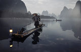 Mr Huang Yue Chuang fishing on Li River, Guanxi, China ; comments:123