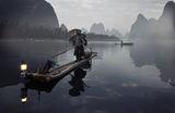 Mr Huang Yue Chuang fishing on Li River, Guanxi, China ; comments:122