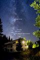 Есенното небе в началото на нощта и някои обекти в Млечния път ; Comments:8