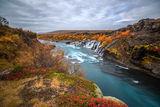 Водопада Hraunfossar - Исландия ; comments:68