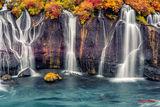 Водопадът Hraunfossar, Исландия ; comments:73