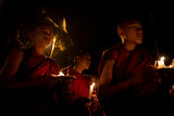 Light procession for Lama Tsong Khapa day ; comments:3
