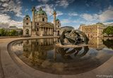 Съботна сутрин с поглед към една от най-красивите църкви във Виена. ; comments:39