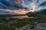 Залез от Тевно езеро със заслона :) ; comments:21