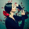 Габи с рози ; comments:58