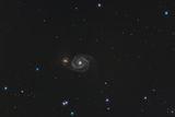 Галактиката M51 в съзвездието Ловджийски кучета ; comments:6